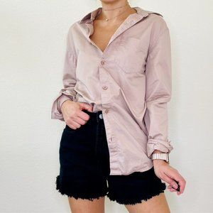 Armani Exchange Oversized Button Down Shirt